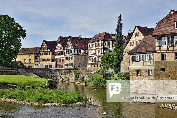 Altstadt  Schwäbisch Hall  Baden-Württemberg  Deutschland  Europa
