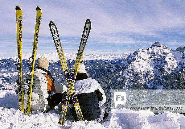 Skigebiet Schlick 2000 im Stubaital  Tirol  Österreich  Europa