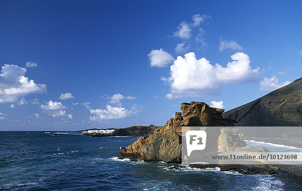 Bucht von El Golfo  Lanzarote  Kanarische Inseln  Spanien  Europa
