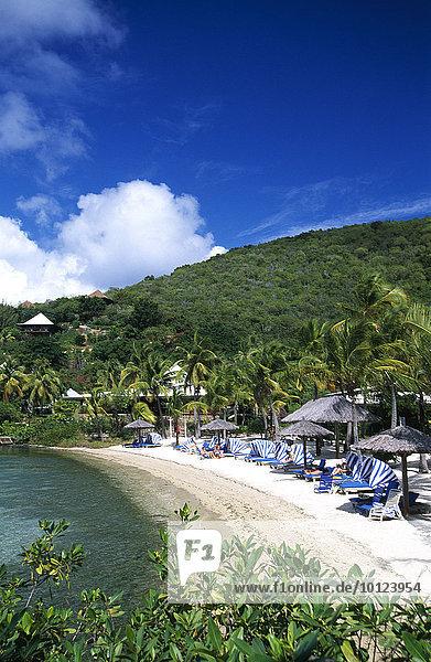 Bitter End Yacht Club auf der Insel Virgin Gorda  Britische Jungfernsinseln  Karibik