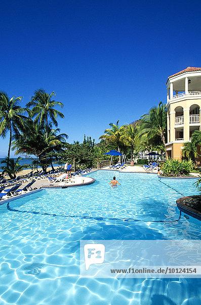 Pool  Rincon Beach Resort  Rincon  Puerto Rico  Karibik  Nordamerika