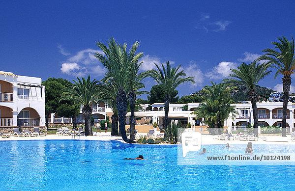 Hotelanlage in Talamanca  Ibiza  Balearen  Spanien  Europa