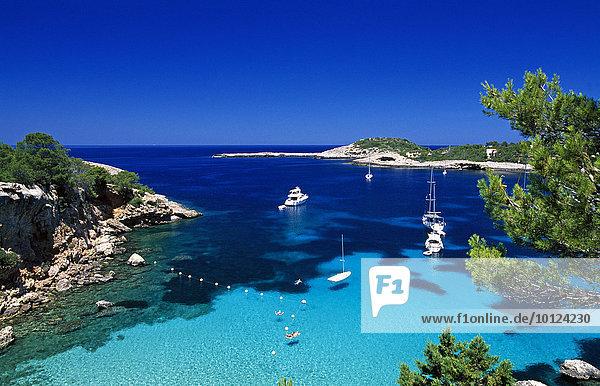 Bucht bei Portinatx  Ibiza  Balearen  Spanien  Europa