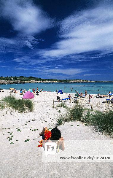 Sanddünen  Arenal de Son Saura  Menorca  Balearen  Spanien  Europa