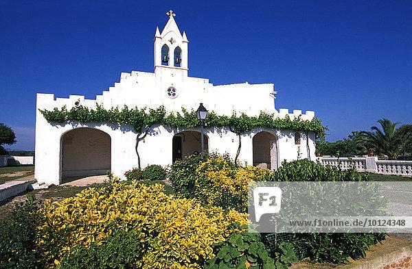 Kirche Eremita de San Joan  Menorca  Balearen  Spanien  Europa