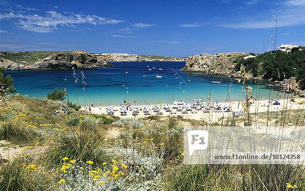 Strand bei Arenal d'en Castell  Menorca  Balearen  Spanien  Europa