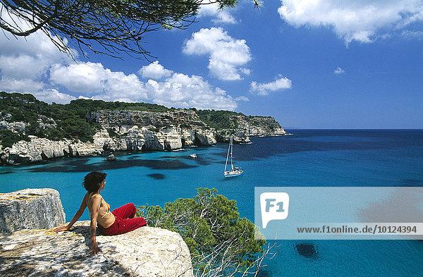 Cala Macarellata  Menorca  Balearen  Spanien  Europa