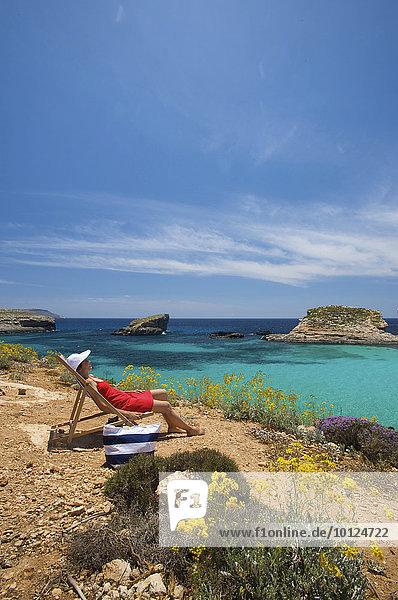 Blaue Lagune von Comino  Malta  Europa