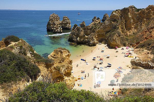 Praia do Camilo bei Lagos  Algarve  Portugal  Europa