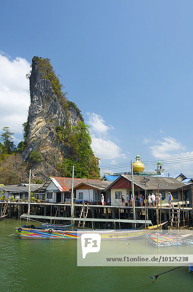 Muslimisches Fischerdorf Pannyi  Phang Nga Bucht  Thailand  Asien