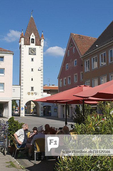 Oberes Tor  Mindelheim  Schwaben  Allgäu  Bayern  Deutschland  Europa