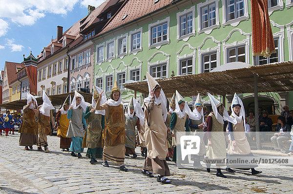 Tänzelfest in Kaufbeuren  Allgäu  Bayern  Deutschland  Europa