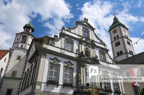 Rathaus in Wangen im Allgäu  Oberschwaben  Allgäu  Baden-Württemberg  Deutschland  Europa
