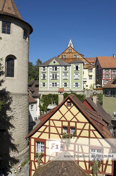 Altes Schloss oder Burg Meersburg in Meersburg  Bodensee  Baden-Württemberg  Deutschland  Europa