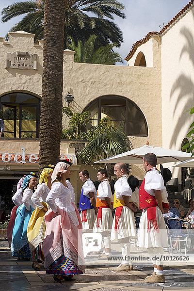 Trachtenfest in Las Palmas  Gran Canaria  Kanarische Inseln  Spanien  Europa