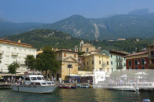 Hafen von Malcesine am Gardasee  Venetien  Italien  Europa
