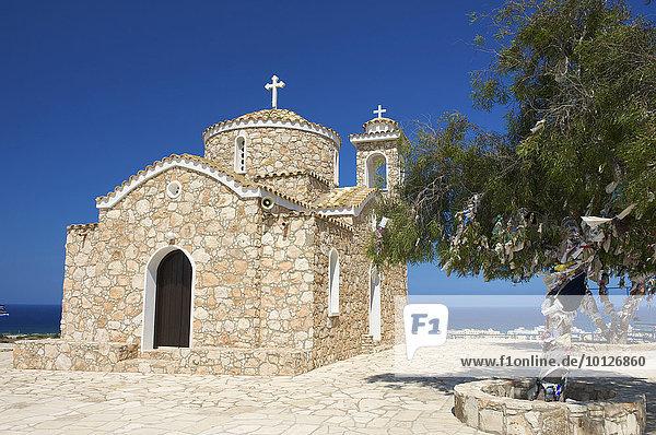 Prophitis Elias Kirche in Protaras bei Agia Napa  Südzypern  Zypern  Europa
