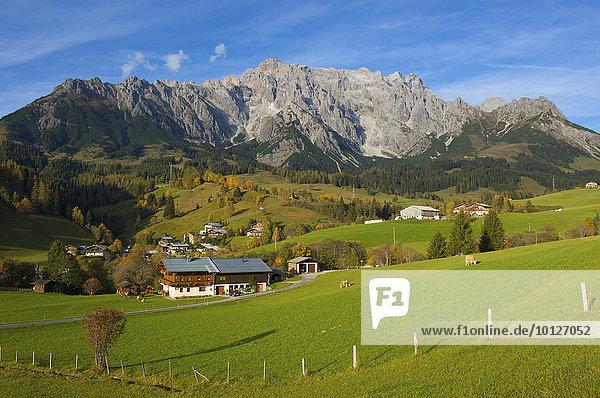 Dienten am Hochkönig im Pinzgau  Salzburger Land  Österreich  Europa