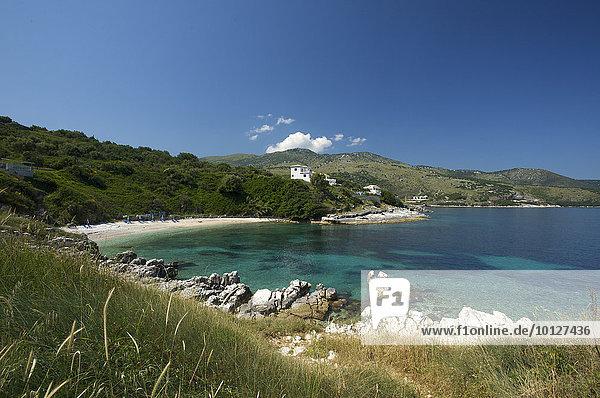 Strand von Kassiopi  Korfu  Ionische Inseln  Griechenland  Europa
