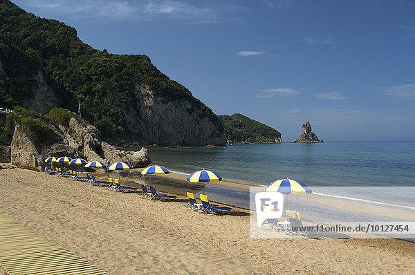 Agios Gordios Strand,  Korfu,  Ionische Inseln,  Griechenland,  Europa