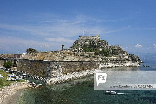 Alte Festung  Korfu Stadt  Kerkira  Korfu  Ionische Inseln  Griechenland  Europa