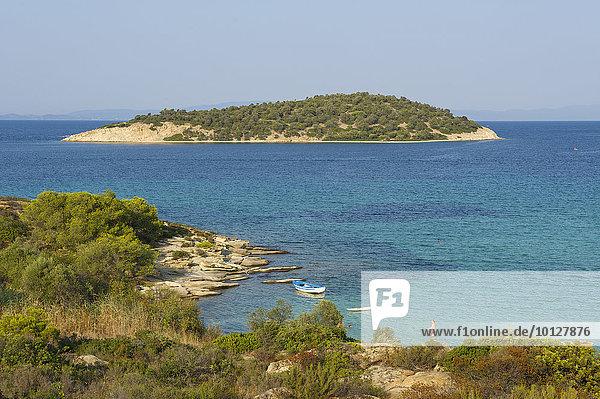 Küste  Lagonisi Beach  Sithonia  Chalkidiki  Griechenland  Europa