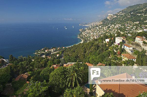Monte Carlo an der Côte d?Azur  Roquebrune  Roquebrune-Cap-Martin  Département Alpes-Maritimes  Region Provence-Alpes-Côte d?Azur  Frankreich  Europa