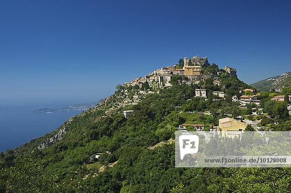 Stadtansicht von Èze  Èze  Département Alpes-Maritimes  Region Provence-Alpes-Côte d?Azur  Frankreich  Europa