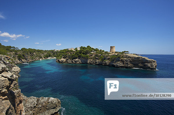 Bucht Cala Pi  Cala Pi  Mallorca  Balearen  Spanien  Europa