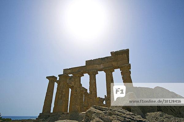 Tempel E  Tempel der Hera  Selinunt  Trabant  Sizilien  Italien  Europa