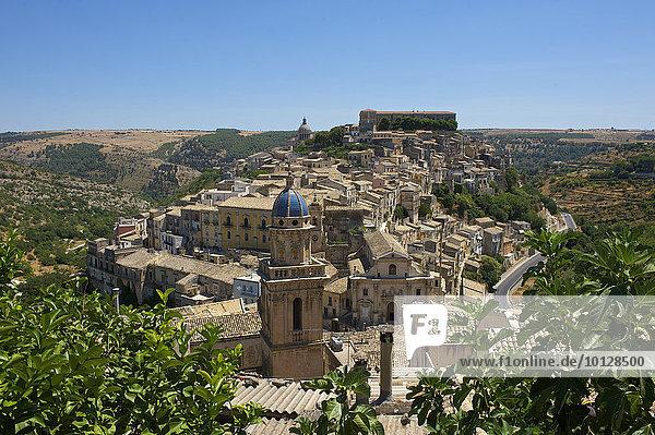 Stadtansicht  Ragusa Ibla  Ragusa  Provinz Ragusa  Sizilien  Italien  Europa