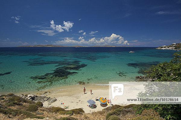 Strand in Agios Ioannis  Mykonos  Kykladen  Griechenland  Europa
