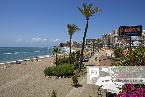 Beach  Benalmadena Costa  Costa del Sol  Andalusia  Spain  Europe