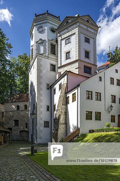 Großer und Kleiner Wasserturm  Brunnenmeisterhof oder Handwerkerhof  Wasserwerk Am Roten Tor  Augsburg  Schwaben  Bayern  Deutschland  Europa