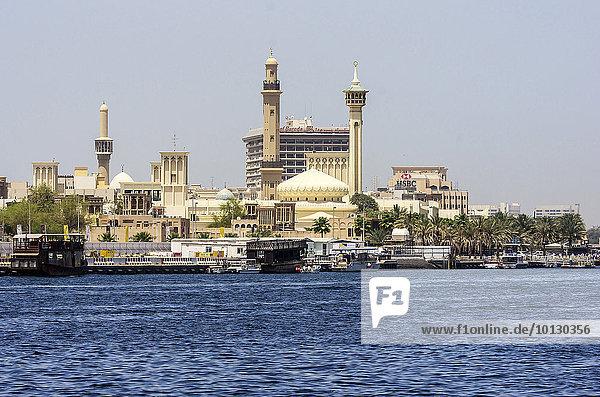 Dubai  Creek  Fluss  Die Moschee Al Bastakiya  VAE  Al Rigga  Dubai  Dubai  Vereinigte Arabische Emirate  Asien