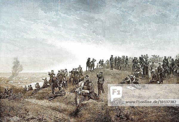 nahe französisch Niederlage Schlacht Krieg hoch oben Sieg Gewinn Zentrale 3 Heer Prinz Sänfte September