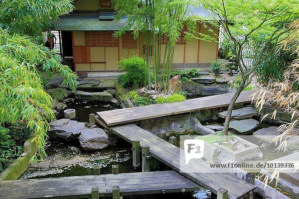 Paris Hauptstadt Frankreich Teehaus Japanischer Garten