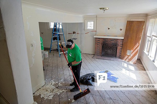 Detroit  Michigan - Volunteers for Working Homes/Working Families repair and renovate a vacant home for a family in need. The nonprofit is fixing up some of Detroit's thousands of vacant homes. Families that maintain the home and pay taxes and utilities for two years may be given ownership.