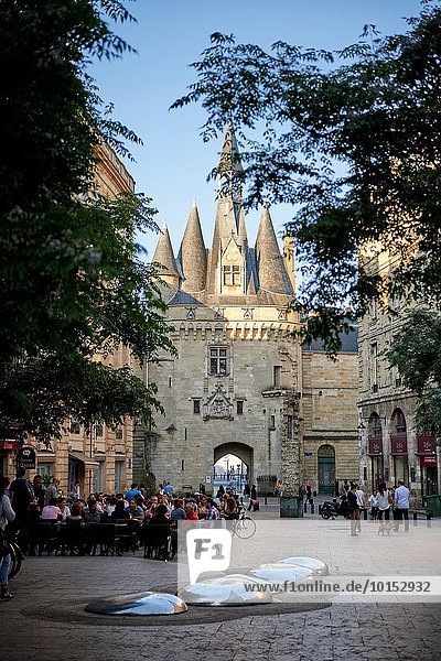 Frankreich Europa Stadt Eingang Aquitanien Gironde