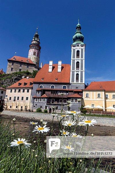 Cesky Krumlov  UNESCO heritage world site  medieval town  Czech Republic.