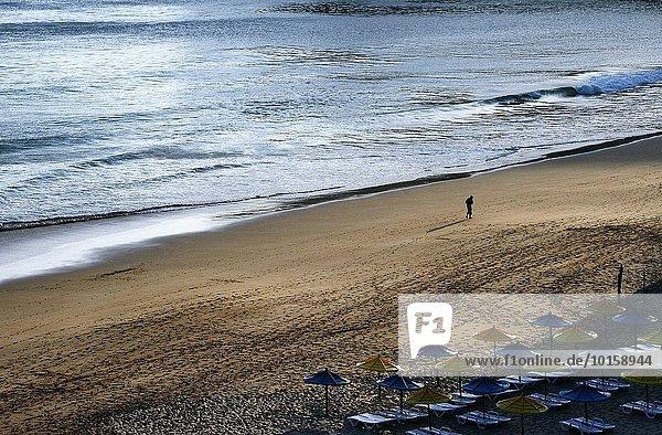 nahe leer Europa Landschaft Strand Sonnenuntergang Küste nähern Algarve Portugal Sagres