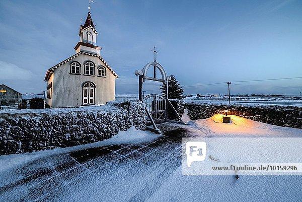 nahe Ländliches Motiv ländliche Motive Großstadt Kirche Island Selfoss