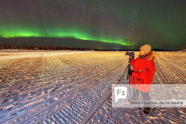 Europa Polarlicht Finnland Lappland Aurora borealis