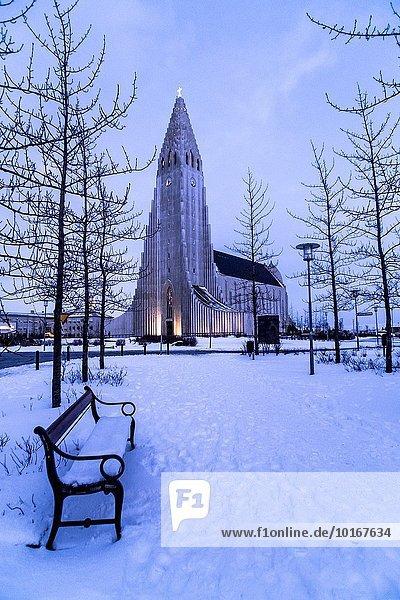 Reykjavik Hauptstadt Kathedrale Hallgrímskirkja Island