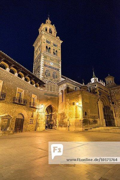 Nacht Kathedrale Aragonien Spanien