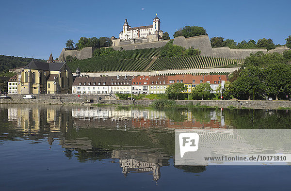 Festung Marienberg  Würzburg  Unterfranken  Bayern  Deutschland  Europa