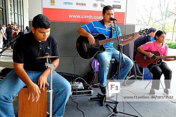 Street performance in front of berjaya times square shopping center  kuala lumpur  malaysia