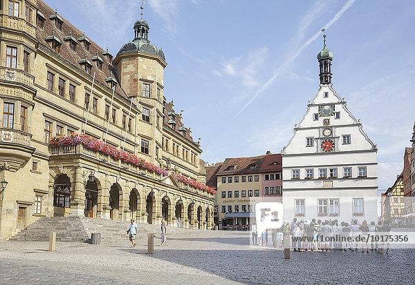 Marktplatz  Rothenburg ob der Tauber  Franken  Bayern  Deutschland  Europa