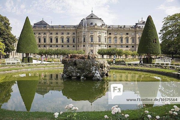 Würzburger Residenz  Würzburg  Bayern  Deutschland  Europa