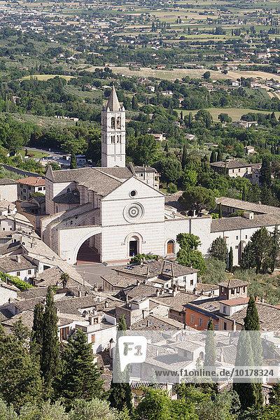 Basilika Santa Chiara  Assisi  Provinz Perugia  Umbrien  Italien  Europa